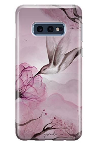Lopard Samsung Galaxy S10E Kılıf Pembe Özlü Balım Kapak Renkli